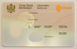Montenegrin Identity Card Wikipedia