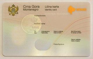 Montenegrin identity card