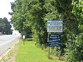 Monticello Welcome signs, US 19sb.JPG
