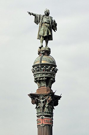 English: Monument to Christopher Columbus, Bar...