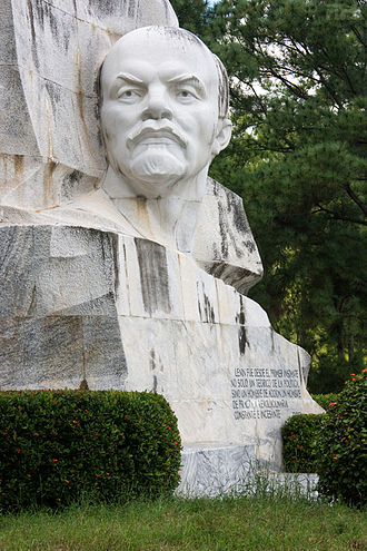 Lev Kerbel - The Lenin Monument in Parque Lenin, Havana, Cuba (1984, sculptor: Lev Kerbel; architect: A. Quintana)