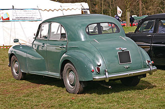 Morris Six MS - Image: Morris Six Series MS rear
