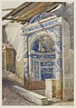 Mosaic Fountain niche in Pompeii watercolor by Luigi Bazzani.jpg