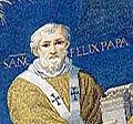 Mosaic of Felix IV (III) in Santi Cosma e Damiano, Rome, Italy (527–530) (cropped).jpg