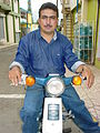 Motorcyclist on Street - Jarabacoa - Dominican Republic.jpg