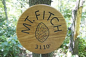 Mount Fitch (Massachusetts) summit sign.jpg