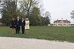 President Donald J. Trump and First Lady Melania Trump with President Macron and Mrs. Macron of France at Mount Vernon.