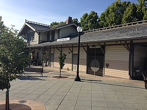Downtown Mountain View Station - Image: Mountain View CA train station front