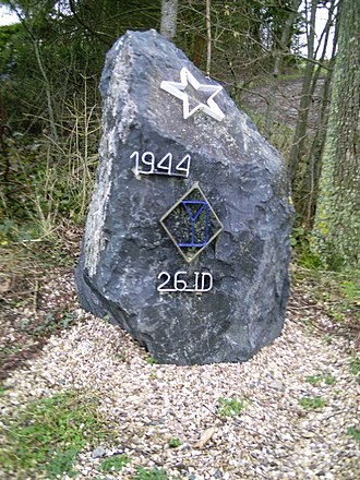 26th Infantry Division (United States) - A memorial of the 26th Infantry Division in Moyenvic, France.