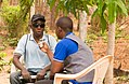 Mr. Amua Rushita from Jamii FM Mtwara doing an interview.jpg