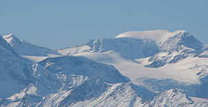 Mount Sir Wilfrid Laurier - East face of Mount Sir Wilfrid Laurier