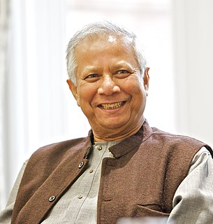 Bangladeshi banker, economist and Nobel Peace Prize recipient