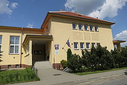 Municipal office, library and nursery school in Římov, Třebíč District.JPG