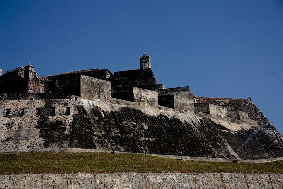 Defensive wall in Cartagena, Colombia
