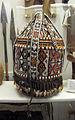 Museo antropologico, sezione africa, somalia italiana, porta vivande con fibre vegetali, perline e conchiglie.JPG