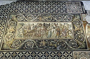 Sétif - The Conquest of India by Dionysus at the archaeological museum of Setif.