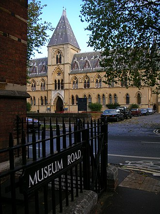 Museum Road - View of the Oxford University Museum of Natural History, across Parks Road from the end of Museum Road.