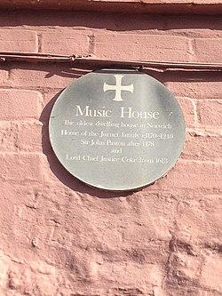 Music house plaque