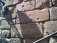 Musket Ball Marks on Bonewaldesthorne's Tower, City Walls, Chester - geograph.org.uk - 10213
