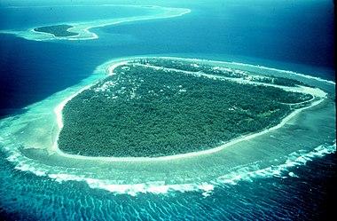 Μέρος μιας ατόλης στον Ειρηνικό Ωκεανό.