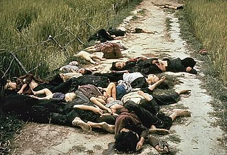 William Calley - Photo taken by the Army photographer Ronald L. Haeberle on March 16, 1968, during the My Lai massacre, showing mostly women and children dead on a road