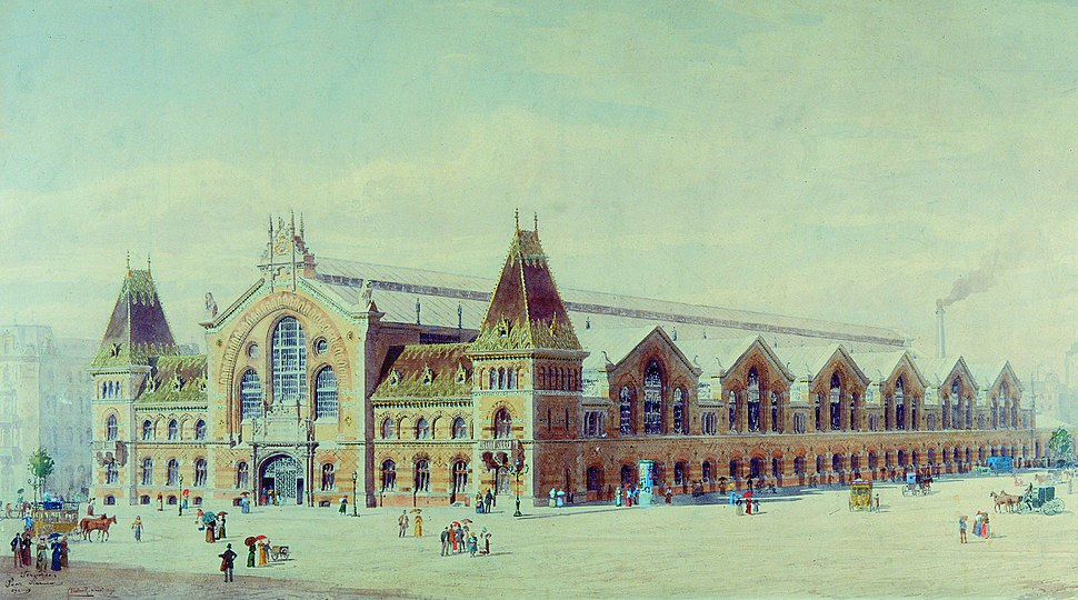 N%C3%A1dler Grand Market Hall in Budapest 1898