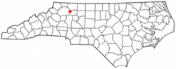 Location of Arlington, North Carolina