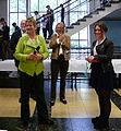 """NRW-Schulministerin Sylvia Löhrmann bei der Eröffnung """"Mütter des Grundgesetzes"""" in der Elisabeth-Selbert-Gesamtschule in Bonn - Bad Godesberg am 7. Mai 2014.jpg"""