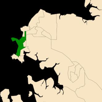 Electoral division of Fannie Bay - Location of Fannie Bay in the Darwin/Palmerston area