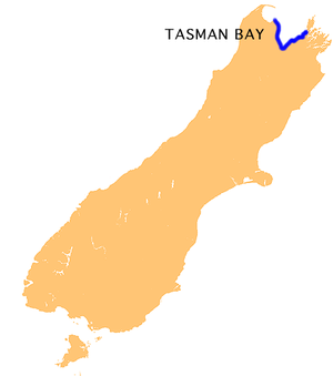 Tasman Bay - Location of Tasman Bay
