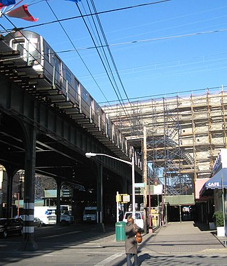 New York Connecting Railroad - Viaduct arch over Astoria