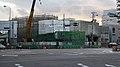 Nakai Shiomibashi Hanshin Sakuragawa station entrance construction 2009.JPG