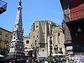 Napoli - piazza San Domenico Maggiore e guglia 1030736.JPG