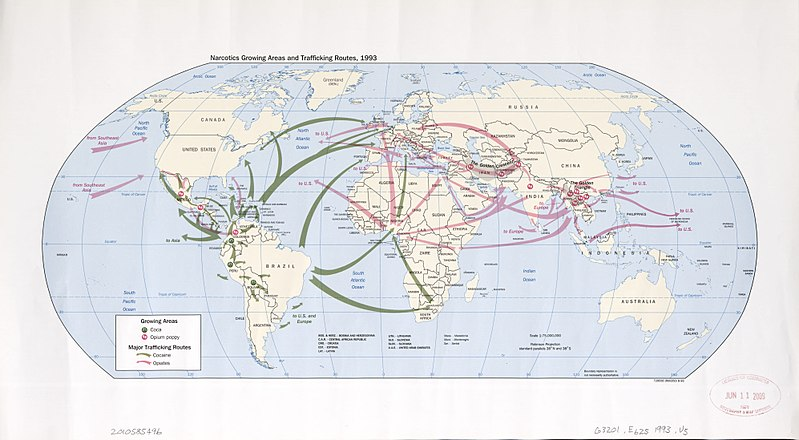 File:Narcotics growing areas and trafficking routes, 1993 - (world map). LOC 2010585496.jpg