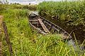 Nationaal Park Weerribben-Wieden. Laarzenpad door veenmoeras van De Wieden. Oude boot 01.jpg