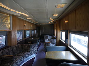 Private railroad car - Interior of a private coach.
