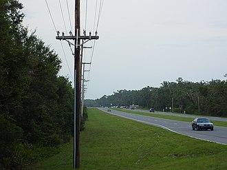 Naval Live Oaks Reservation - Image: Navalliveoakshighway 98