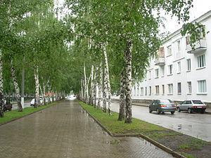 Salavat, Russia - Neftyanikov Street