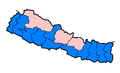 Nepal zones flood hit between July 3 and August 15 2007.png