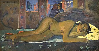 Nevermore de Paul Gauguin (Fondation Vuitton, Paris) (32480723757).jpg