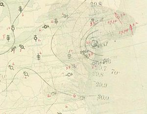 1893 Atlantic hurricane season - Image: New York hurricane 1893 08 24 weather map