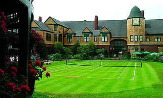 US Open (tennis) - The Newport Casino Tennis Court (as of 2005), where the US Open was first held in 1881