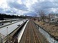Newtonville station from Harvard Street, March 2013.JPG