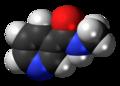 Nicotinyl methylamide 3D spacefill.png