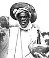 Nigerian native charm seller with scorpion on his nose Wellcome M0002730.jpg