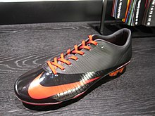 online store 97845 5daf9 A customised Nike Mercurial Vapor Superfly boot.