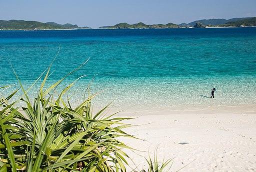 Nishibama beach Okinawa Aka Island
