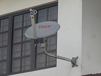Astro NJOI - An Njoi satellite dish similar to Astro's.