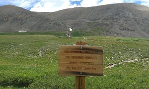 "Mount Bross - ""No Public Access"" sign near Kite Lake."