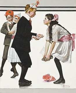<i>Children Dancing at a Party</i> painting by Norman Rockwell